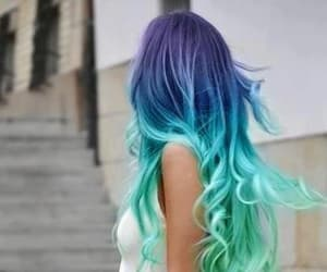 colorful hair, love, and colors image
