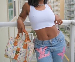 body, glam, and Louis Vuitton image