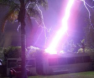 lightning, grunge, and purple image