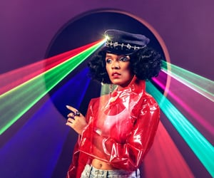 janelle, computer, and music image