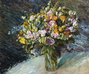 art, artwork, and bouquet image