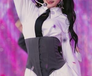 purple, sakura, and yuri image