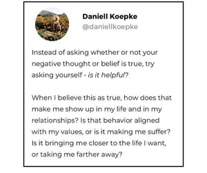 is it helpful?, closer to life i want, and belief image