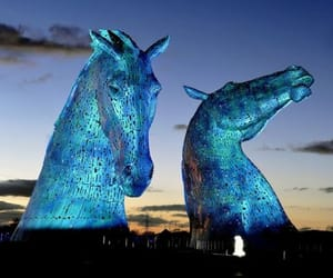 scotland, the kelpies, and by sculptor andy scott image