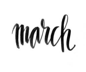 march, spring, and month image