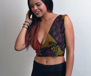 crop top blouse, african crop top, and ankara crop top image