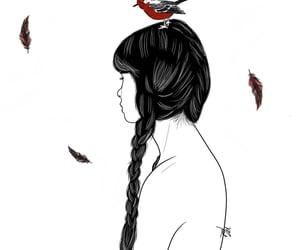 animals, bird, and drawing image