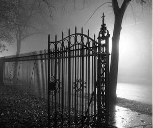 dark, Darkness, and gate image