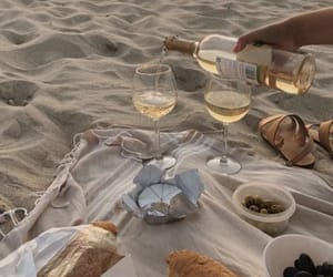 beach, summer, and picnic image