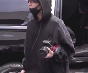 black, boyfriend material, and jungkook image
