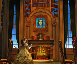 beauty and the beast, belle, and bell image
