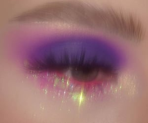 purple, glow up, and fashion image