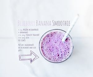 banana, blueberry, and healthy image