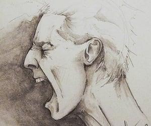 art, portrait, and scream image