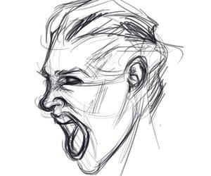 draw, portrait, and scream image