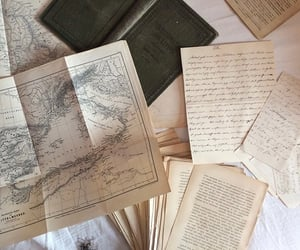 map, book, and vintage image