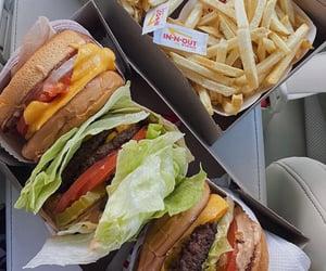 burger, cheeseburger, and fast food image