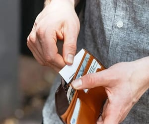 leather, wallets, and leatherwallet image