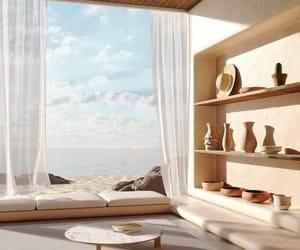 home, interior, and sea image