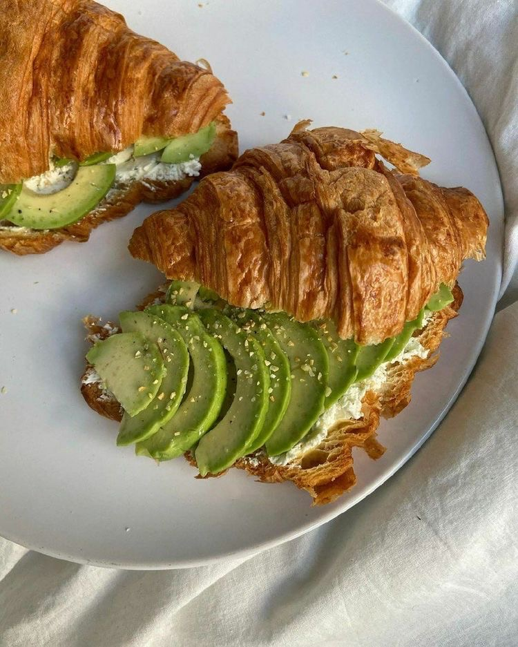 avocado, croissant, and delicious image