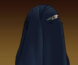 art, niqab, and islam image