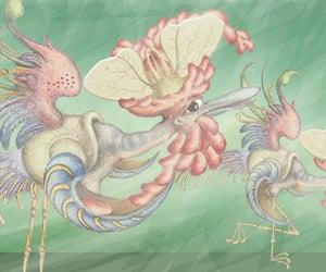 birds, surreal fantasy, and cartoons image