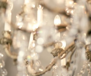 chandelier, light, and aesthetic image