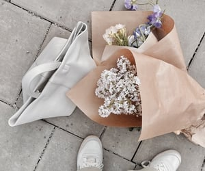 flowers, bag, and beautiful image
