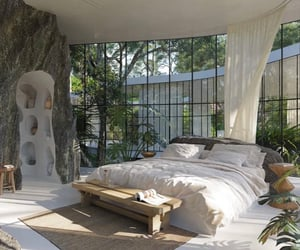 bedroom, home, and architecture image