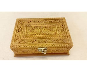 wooden handicrafts and carved sandalwood box image