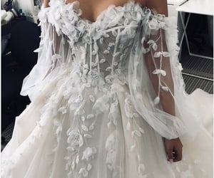 haute couture, wedding, and white image