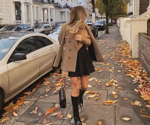 autum, fall, and dress image