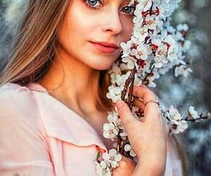 girls, цветы, and фотографии image