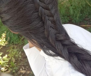 braid, beauty, and fishtail image