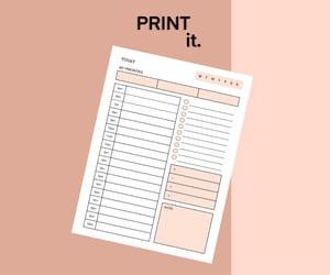 organization, printable, and printable planner image