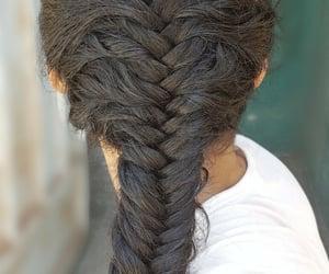 beauty, fishtail, and hairdo image