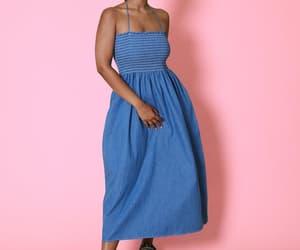 dress pattern, halter dress, and upcycled denim image
