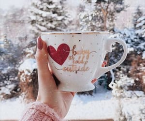 cup, details, and snow image