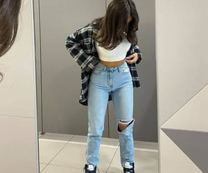 clothes, denim, and jeans image
