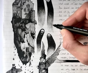 art, draw, and poem image
