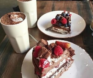 cake, chocolate, and date image