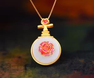 nature gemstone, etsy, and pendant necklace image