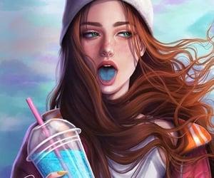 anime, art, and brunette image
