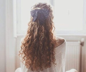 curly, style, and hair image