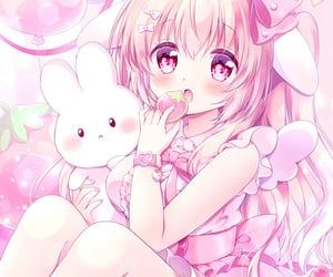 anime girl, neko, and cat girl image