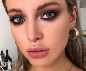 Black Eyeliner, eyeliner, and eyeshadow image
