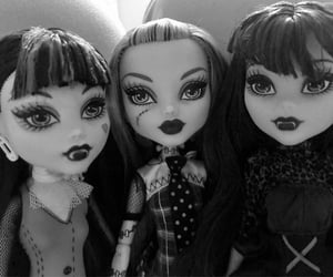 adorable, dark, and goth image
