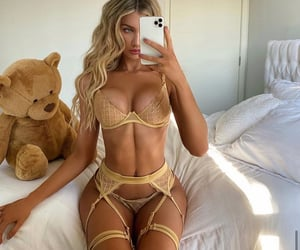 abs, blonde, and girl image