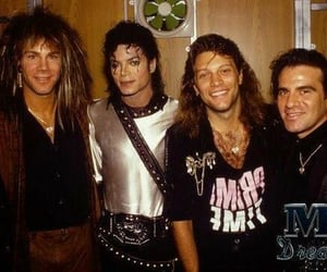 bon jovi, 80s, and michael jackson image