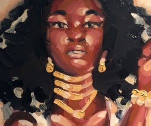 art, curly hair, and portrait image